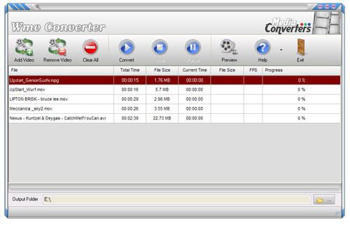 Wmv Converter is free video converter software.